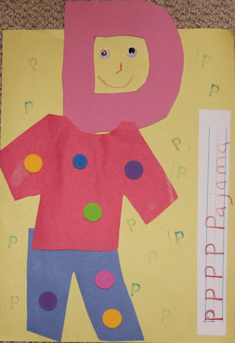 Alphabet Play P is for Pajama Sponsored by Post Alpha-Bits ...