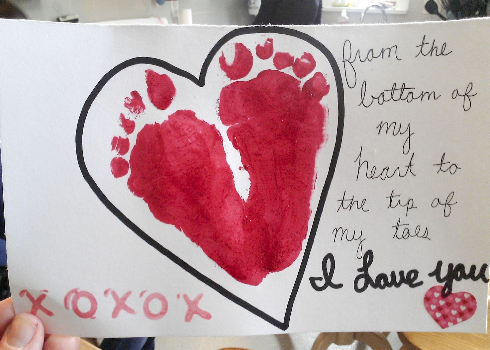 Infant Footprint Crafts For Valentine S Day