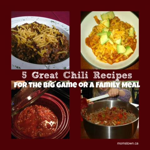5 Easy Chili Recipes for the Superbowl or family meal